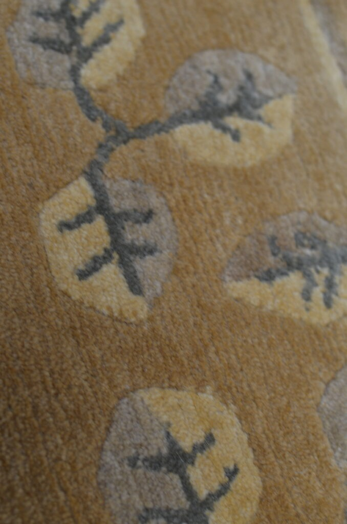 Hand-knotted rug's details